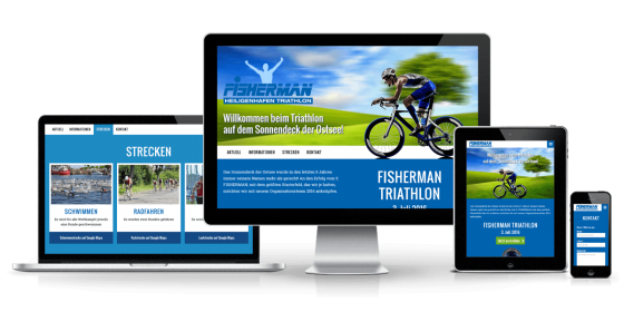 Fisherman Triathlon Responsive One Page Website