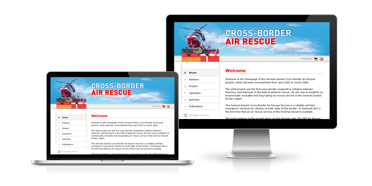 Website Cross-Border Air Rescue